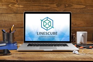Lines Cube Logo