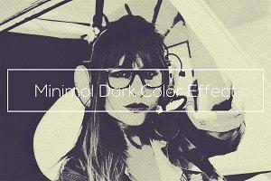 Minimal Dark Color Effect