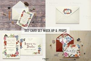 5x7 Card/Envelope Mock Up & Props