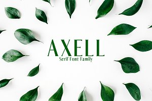 Axell Serif 4 Font Family Pack