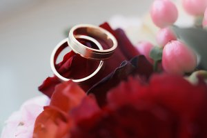 Beautiful modern wedding rings