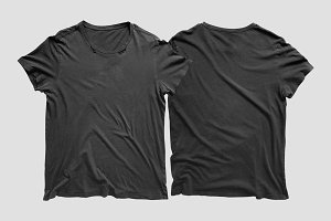 Vintage Distressed T-Shirt Mockup