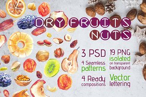 Dry Fruits and Nuts Big Set