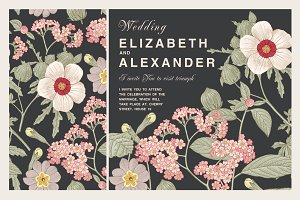 Wedding Flowers Hibiscus Card Frame