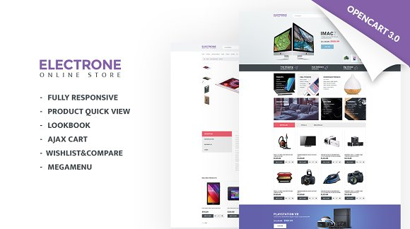 Electronics Store Responsive OpenCar