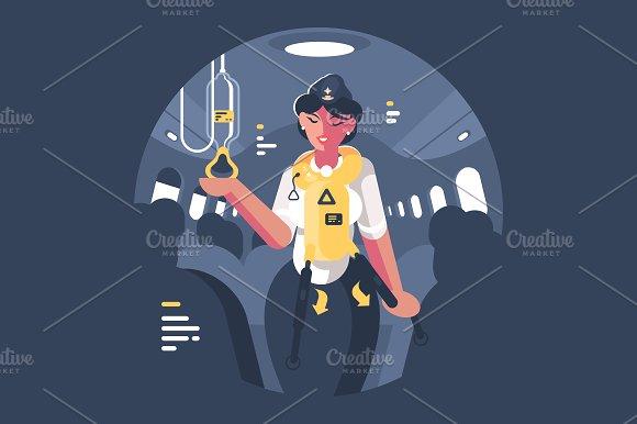 Stewardess in Illustrations