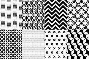 8 geometric seamless patterns