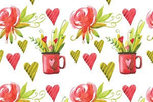 Valentine`s Day seamless patterns