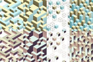 8 isometric seamless patterns