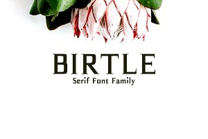 Birtle Serif 3 Font Family Pack