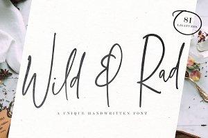 Wild & Rad Handwritten Script Font
