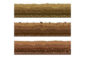 Soil layers set