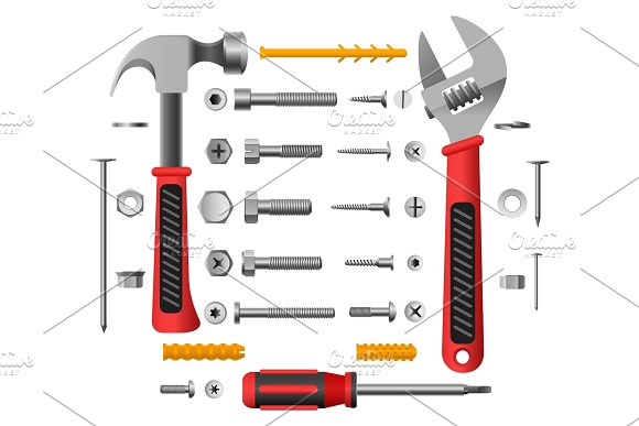 Screws Nuts And Tools