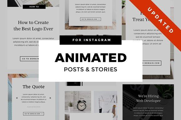 Animated Instagram Stories & Posts in Instagram Templates