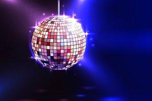 Modern illuminating disco ball