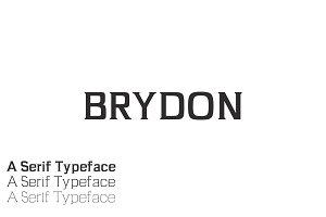 Brydon Serif 3 Font Family Pack