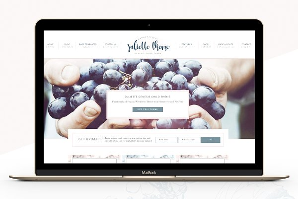 WordPress eCommerce Themes: Lovely Confetti - Portfolio eCommerce Genesis theme Ju