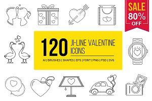 Valentine Line Vector Icons