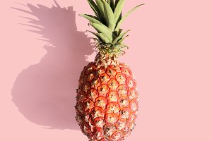 Pineapple on pink