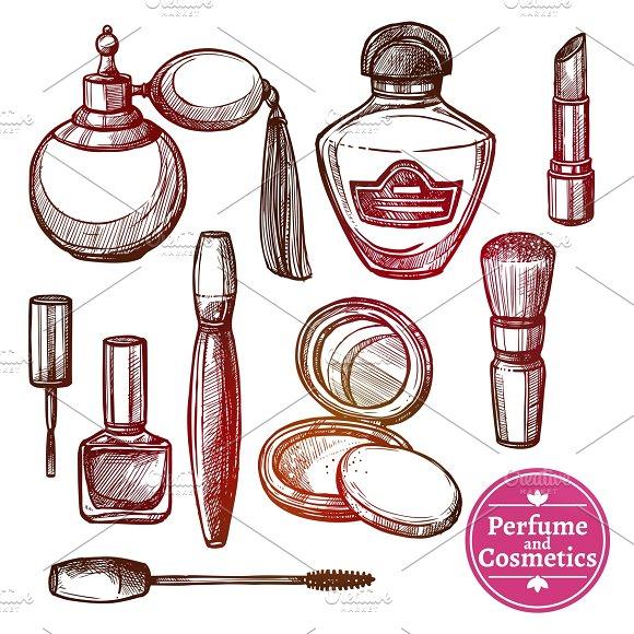Perfume And Cosmetics Set