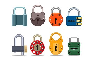 Colorful lock set