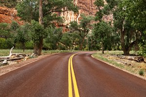 The Road Through Zion National Park