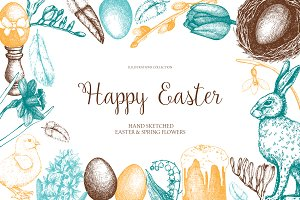 Vector Easter Illustrations Set