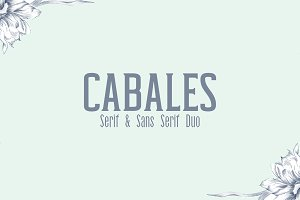 Cabales Duo 8 Font | Bonus Freebie