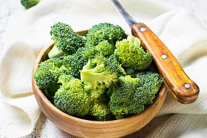 Fresh sliced broccoli