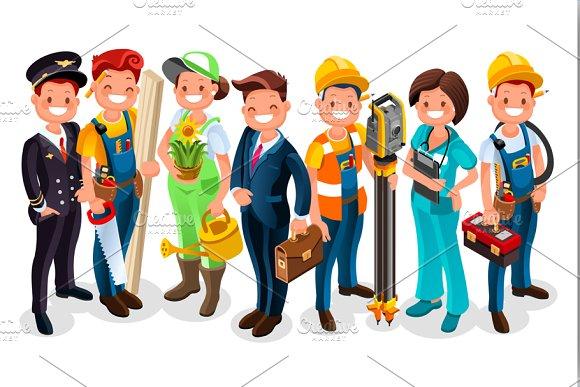 Labor Day Cartoon Characters