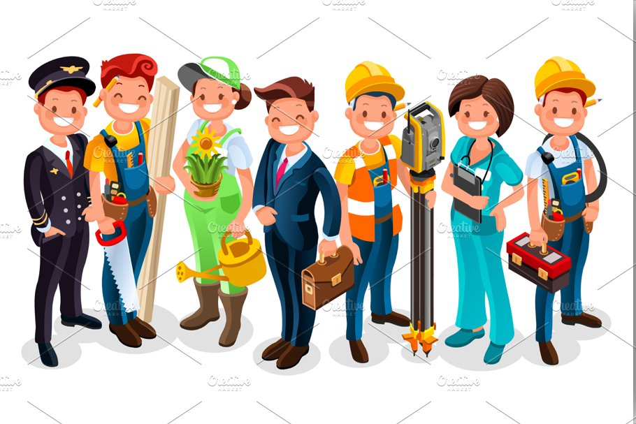 Labor Day Cartoon Characters