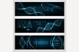 DNA Molecule Banners