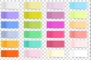 Post Note Memo Sticker Set Vector