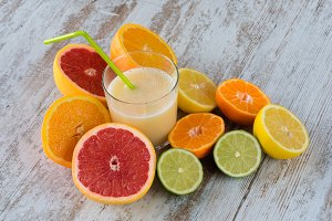 Natural citrus juice