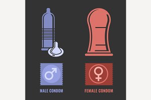 Condoms Icons
