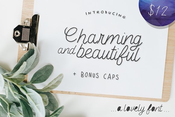 Charming And Beautiful Font