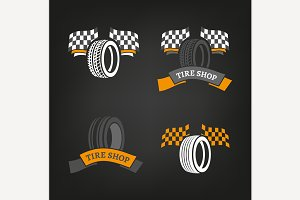 Tire Shop Icons