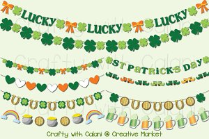 St Patrick's Day Digital Garland