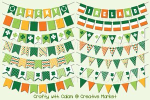 St Patrick's Day Digital Bunting