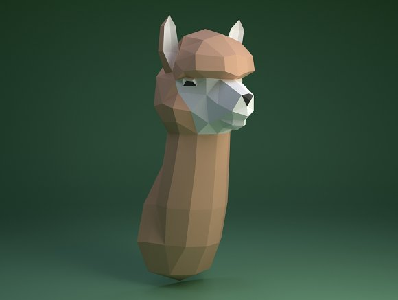 Diy Alpaca 3d Model Template Templates Creative Market