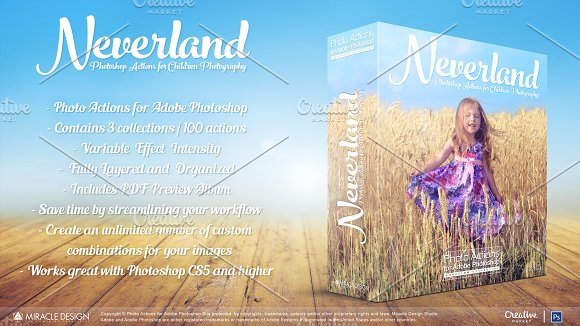 Actions For Photoshop Neverland
