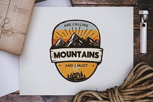 Mountains Calling Badge