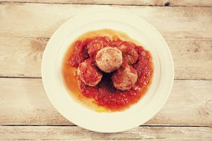 Meatballs with tomato