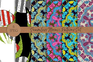 MOSAIC seamless patterns set