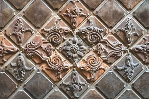 Old relief tiles