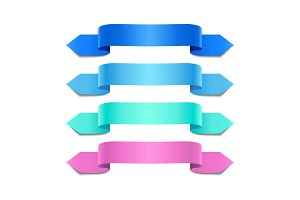 Colorful decorative ribbons