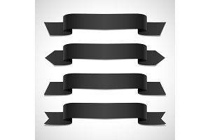 Black decorative banners set