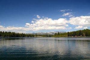 Calm Sierra Lake And Clouds