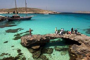 mediterranean Sea, Comino Island,