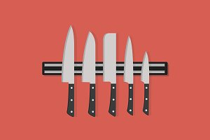 Knife set vector illustration